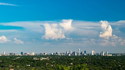 Downtown Austin from Mt Bonnell park