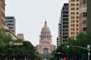 Texas state capitol downtown Austin