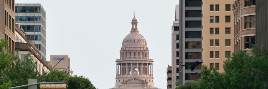 Texas state capitol downtown Austin