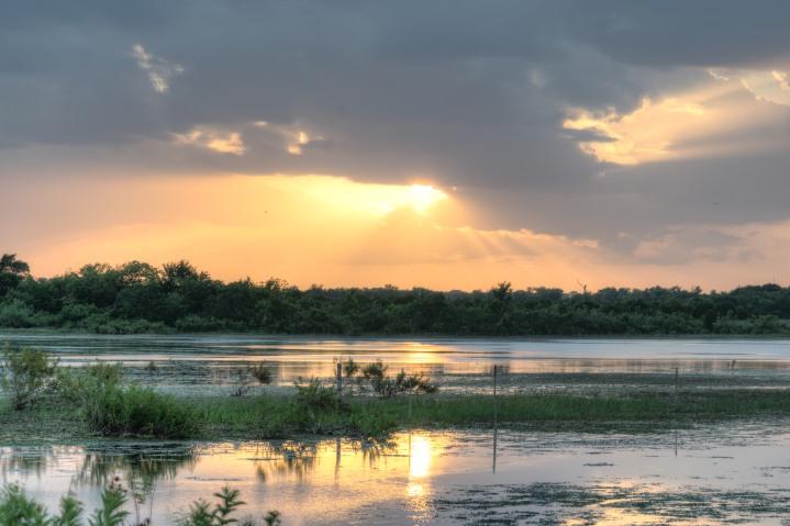 Devine Lake Park Leander Texas Sunset