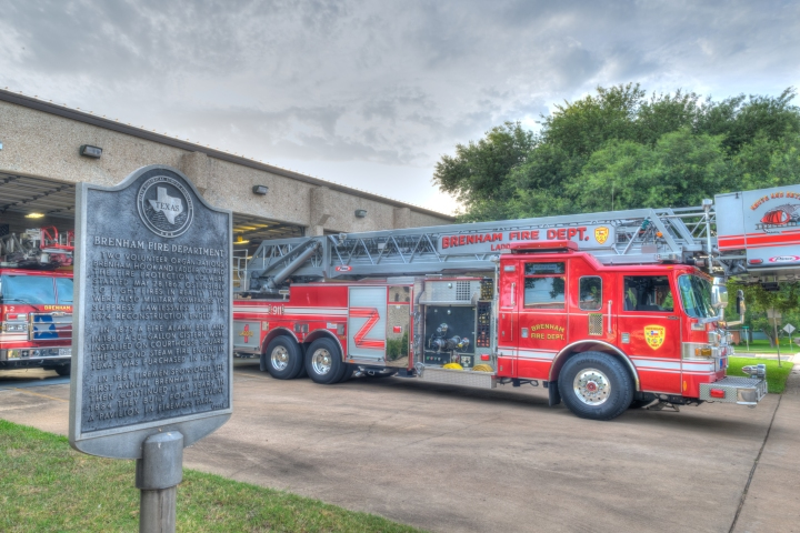 Fire truck Brenham HDR