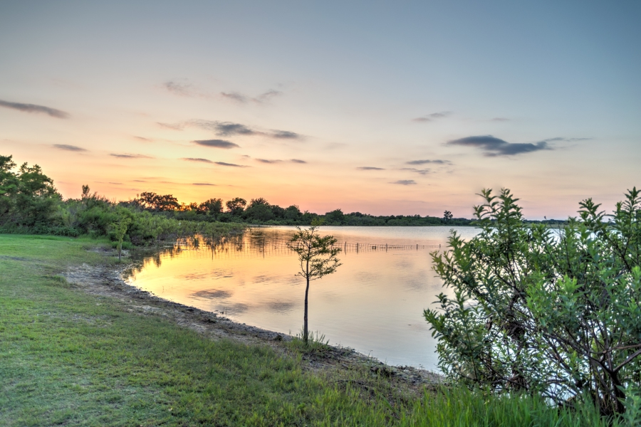 Devine Lake Park Leander Texas Sunset