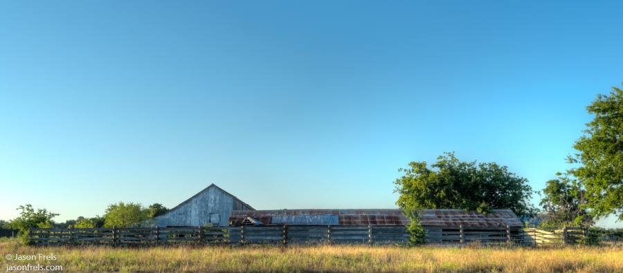 rusty barn texas hdr