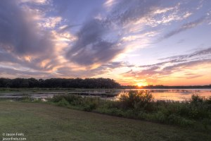 Sunset in Leander Texas HDR