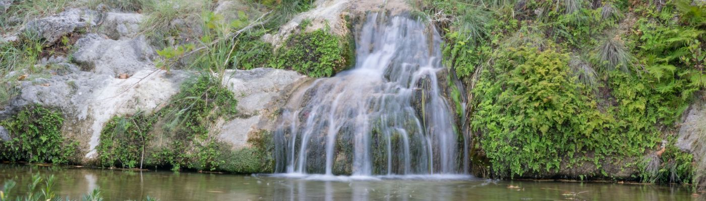 Close up of Colorado Bend State Park Waterfall