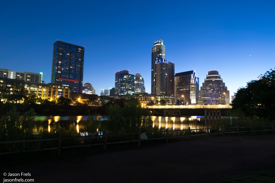 Downtown Austin before dawn