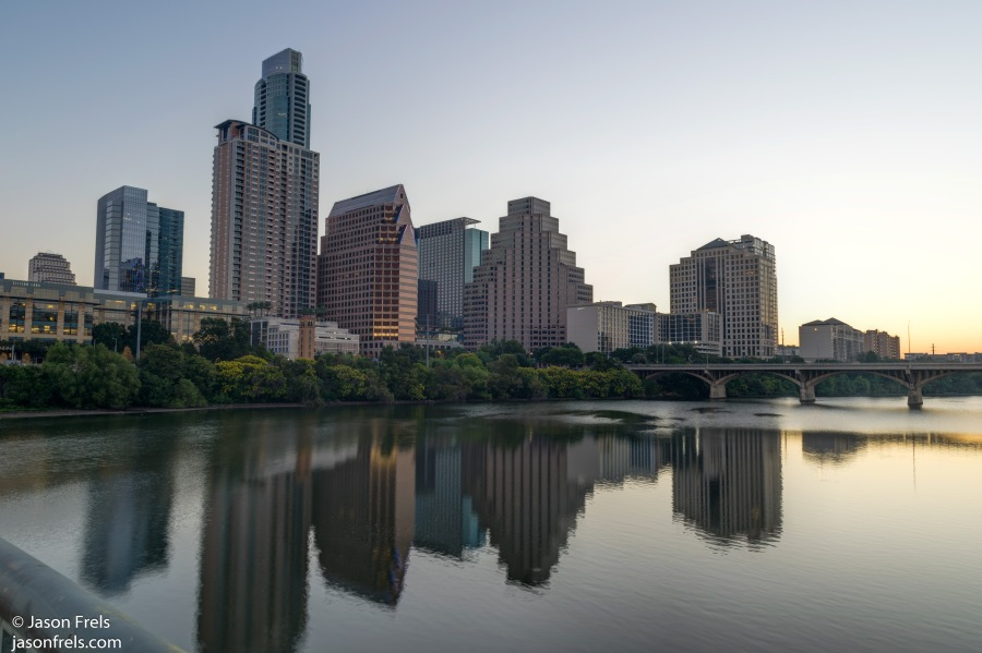 Downtown Austin before dawn HDR