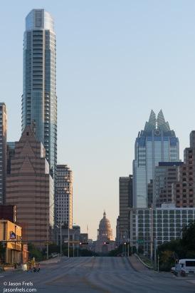 Capitol Building in Austin Texas at sunrise