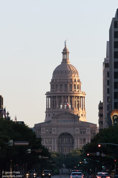 Capitol Building in Austin Texas at sunrise