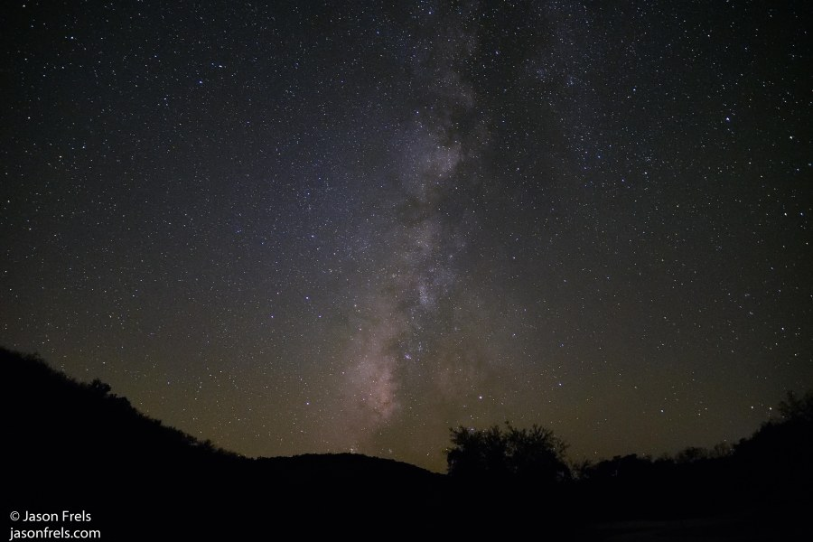 Milky Way in the night sky at Colorado Bend State Park