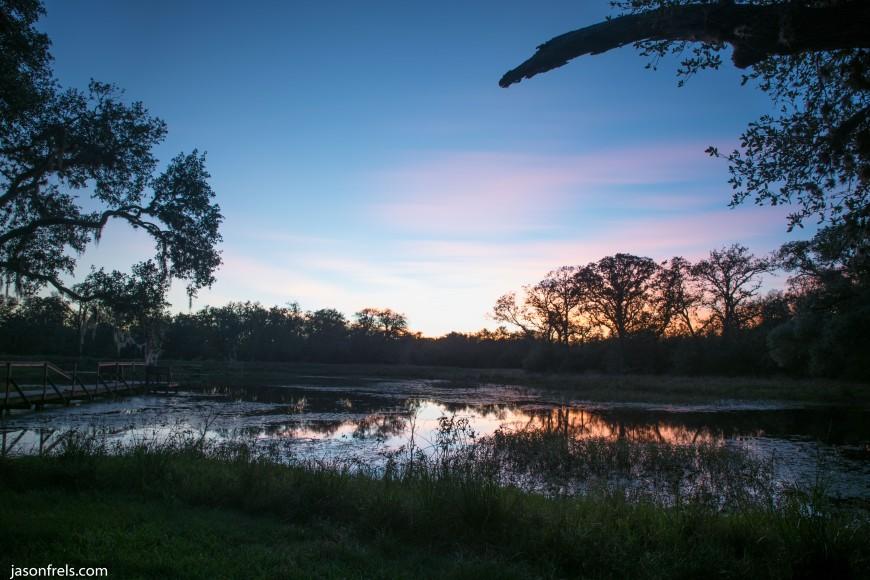 Motion blur after sunset