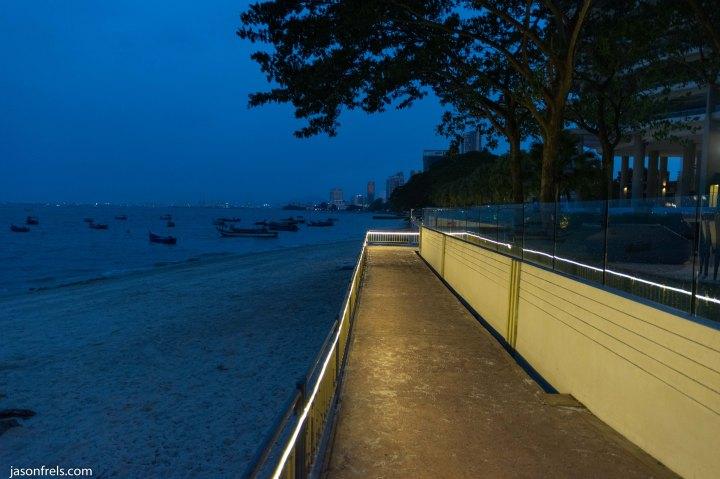 Penang Malaysia waterfront at night