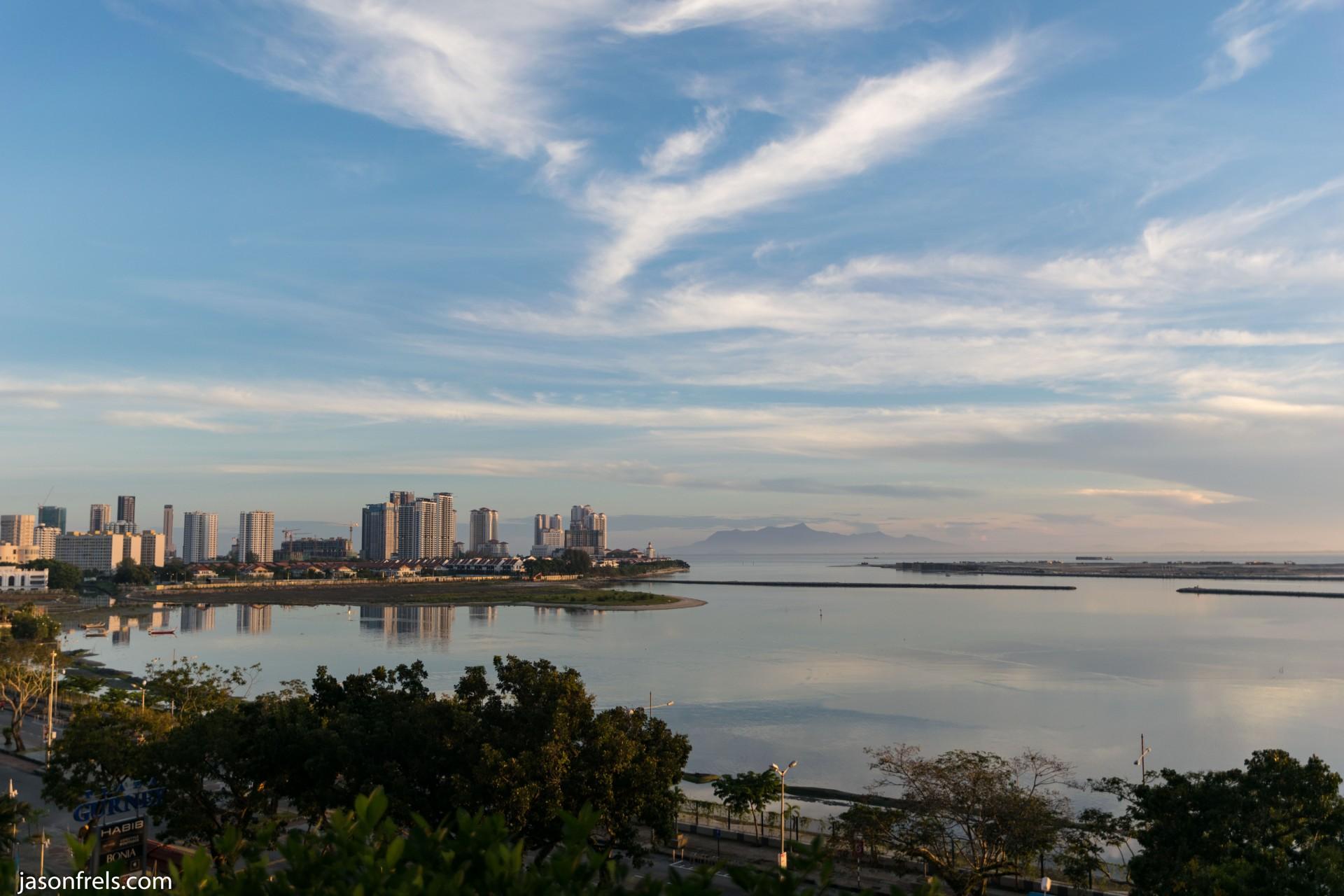 Penang Malaysia waterfront at dawn