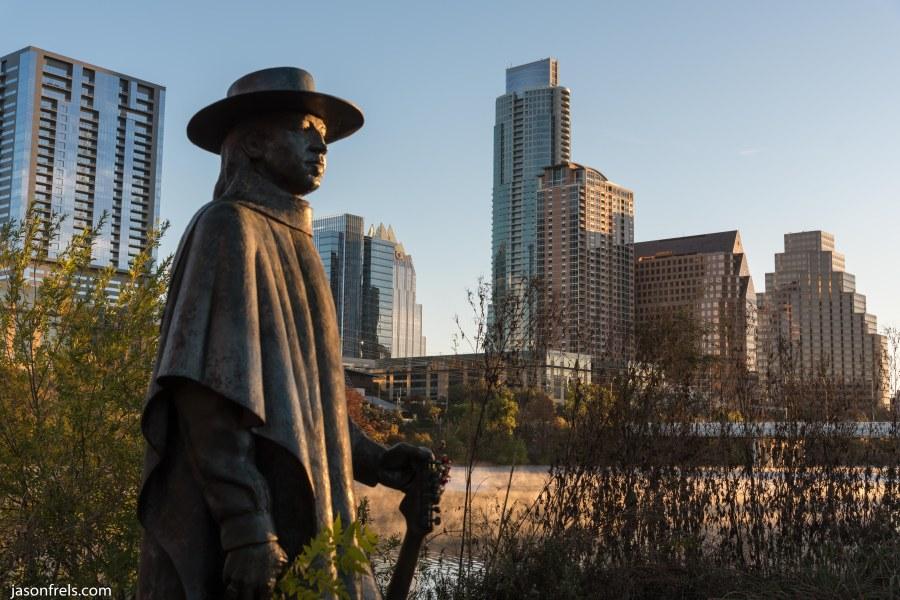 Austin Texas Stevie Ray Vaughan Statue