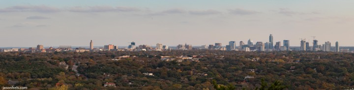 Panorama of Austin from Mt Bonnell