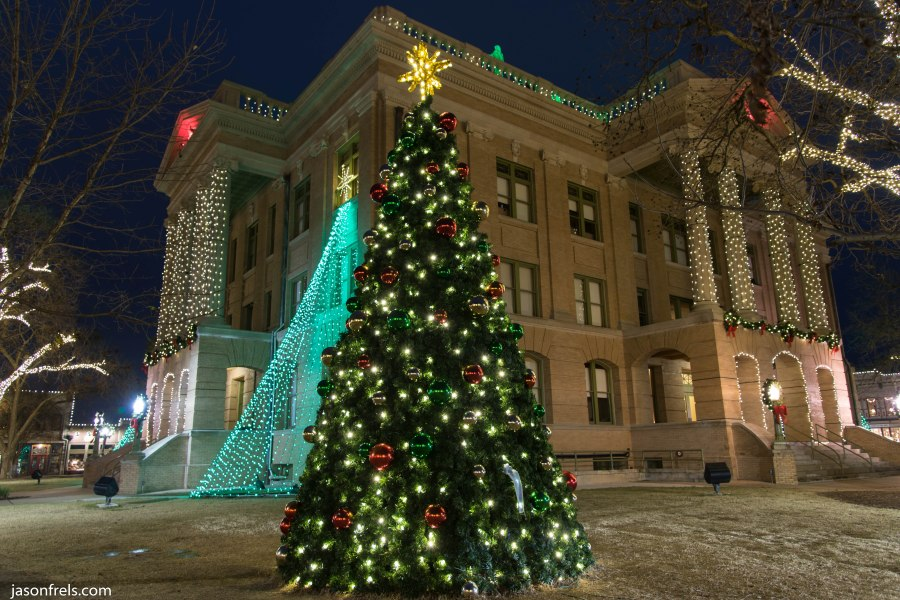 Georgetown Texas Courthouse Christmas tree