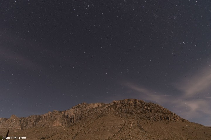 Guadalupe Mountains National Park at Night
