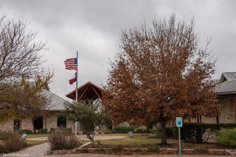 Leander Public Library Cloudy Day