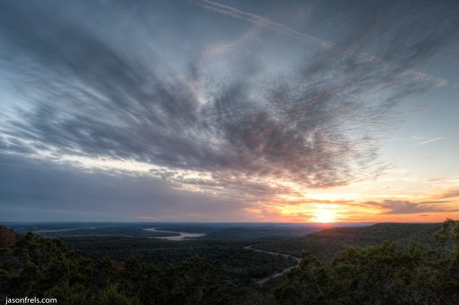 Balcones Canyonlands NWR Sunset HDR