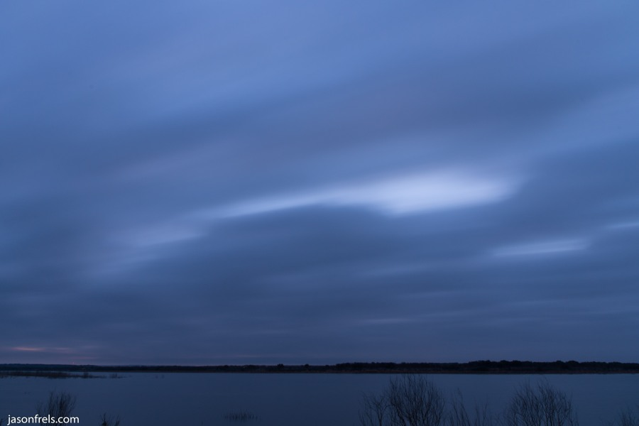 Lake Brownwood morning cloud blur