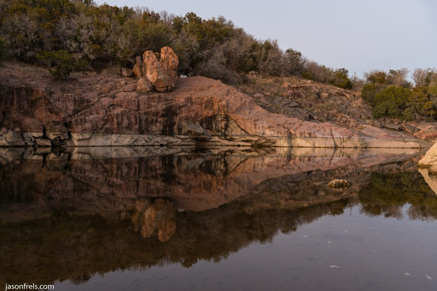 Inks Lake at low level