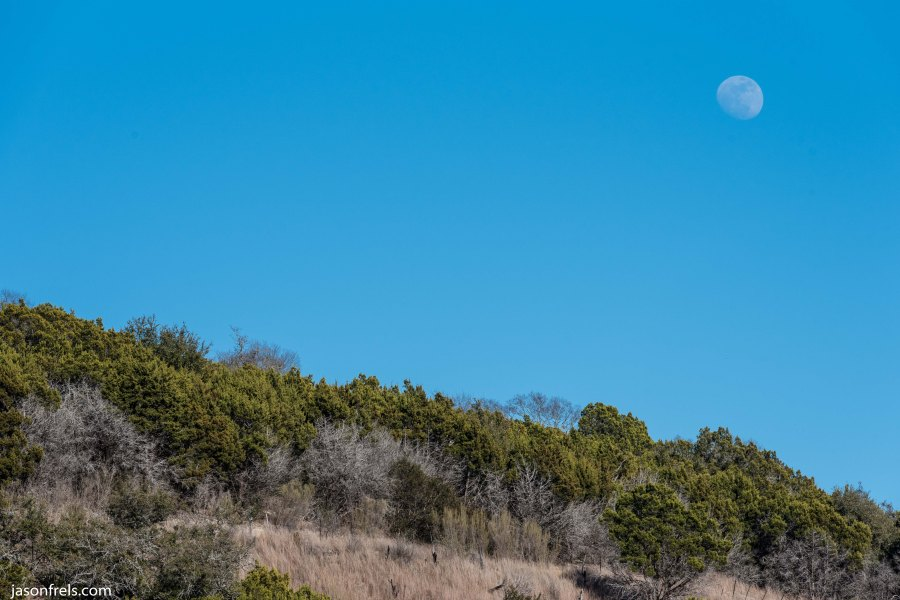 Moon over Balcones Canyonlands National Wildlife Refuge