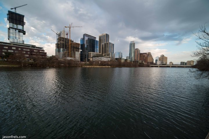Austin Texas Downtown wide angle