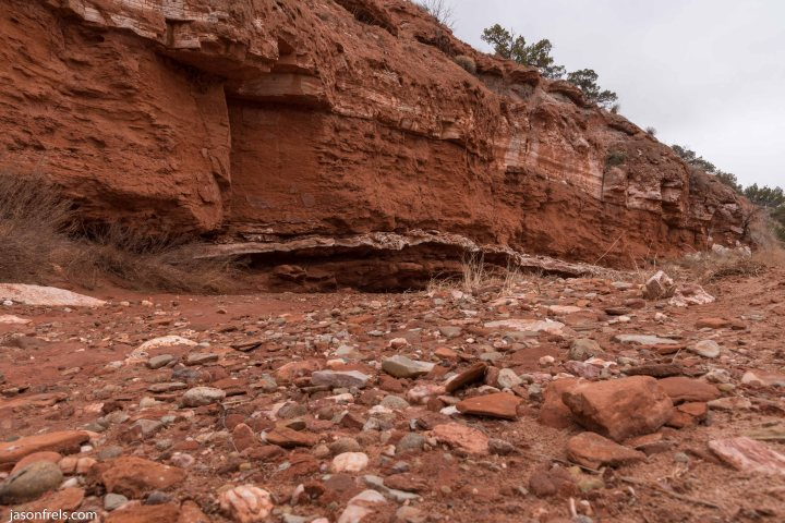 Caprock Canyons State Park Texas hiking trail river bed