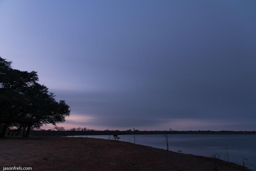 Long exposure clouds at park
