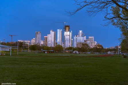 Austin Texas skyline at dusk twilight