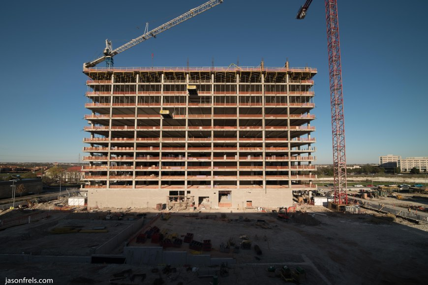 Building under construction Austin Texas Domain