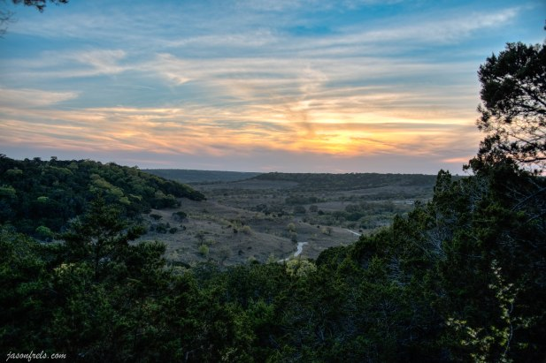 Sunset at Balcones Canyonlands National Wildlife Refuge at doeskin ranch