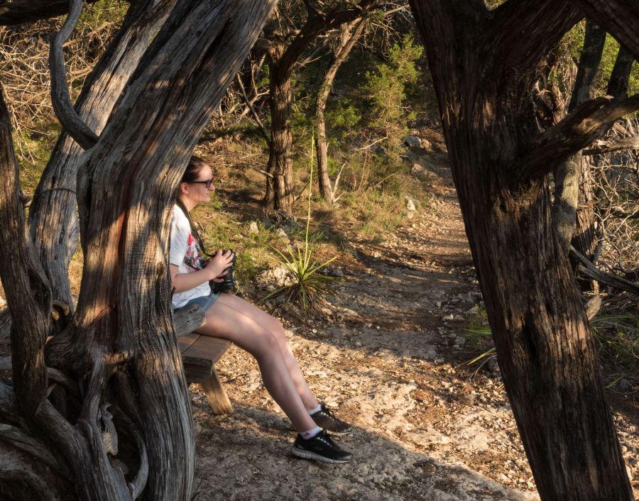 Balcones-Canyonlands-National-Wildlife-Refuge-daughter-hiking-2