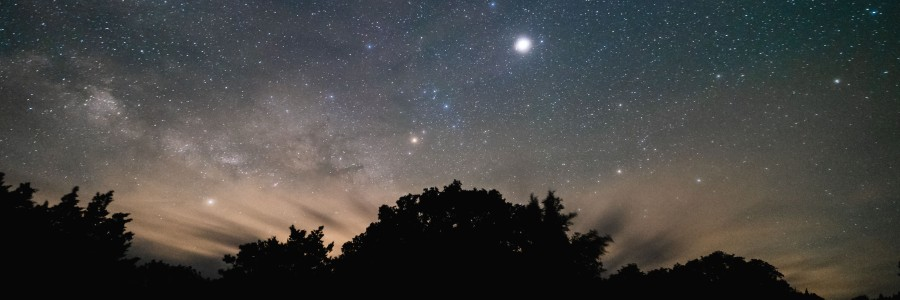 Night sky from Colorado Bend State Park Texas