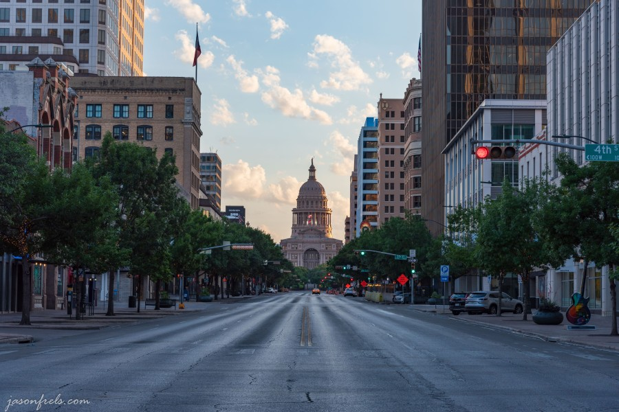 Congress avenue Austin looking to the capitol
