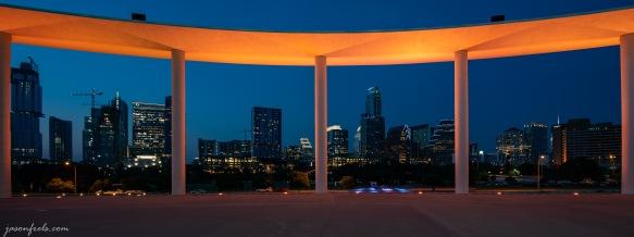 Austin Texas Long Center and Downtown Skyline