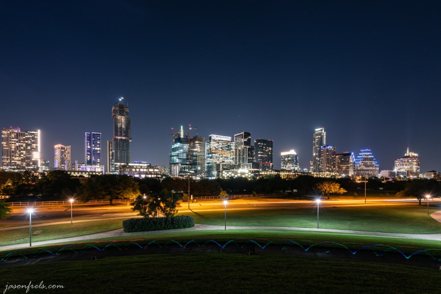 Austin Texas downtown city skyline at night