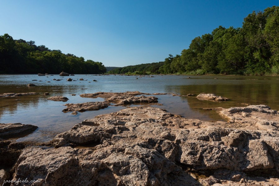 Colorado River at Colorado Bend State Park Texas