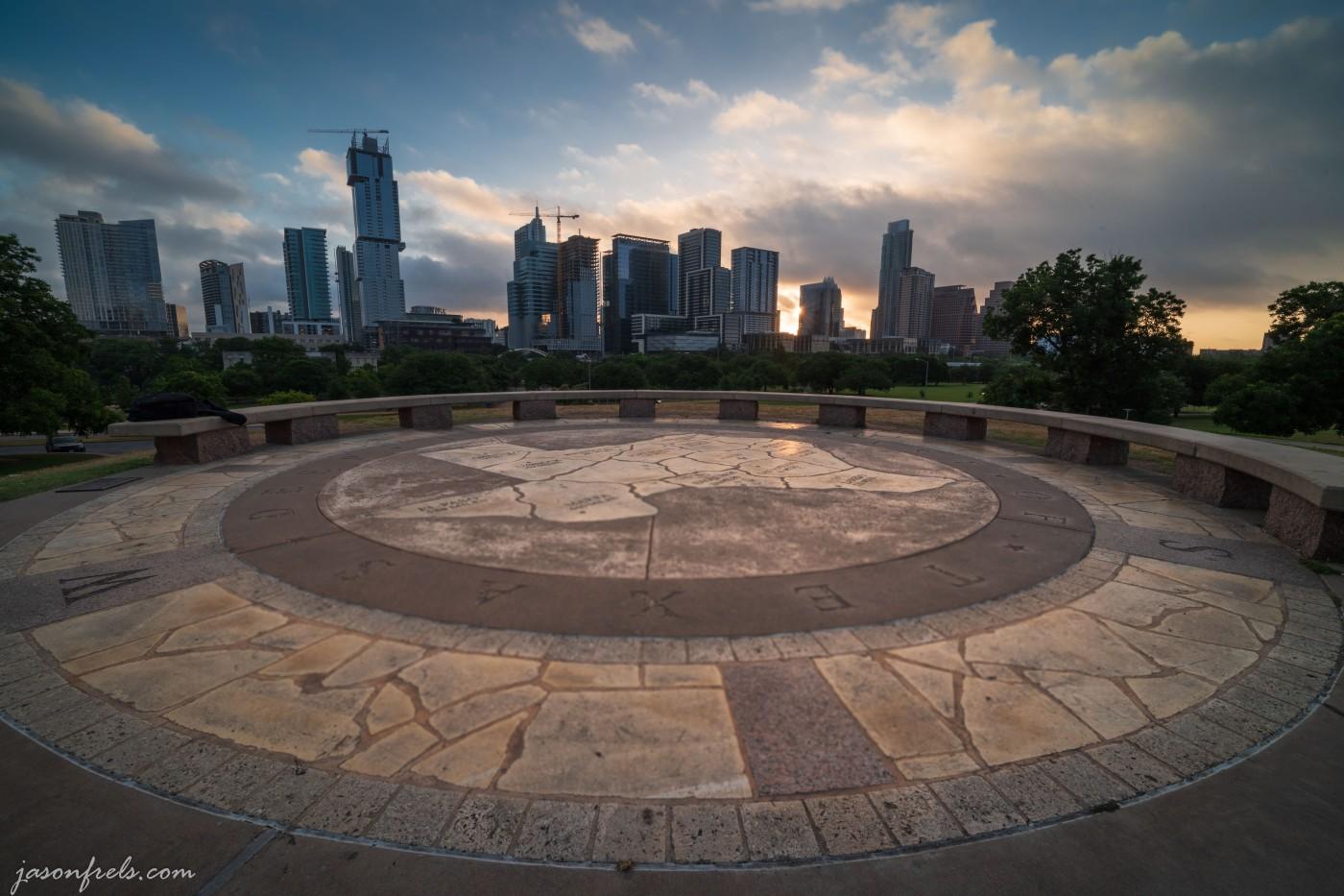 Doug Sahm Hill Park Austin Texas at Sunrise