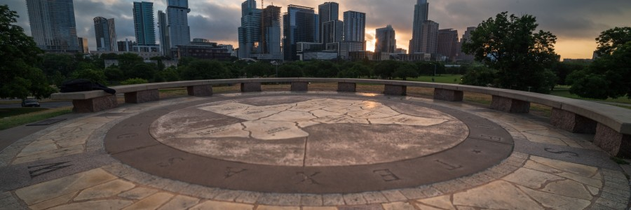 Doug Sahm Hill Park Austin Texas at Sunrise