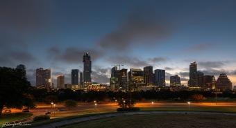 Austin downtown skyline at pre-dawn twilight