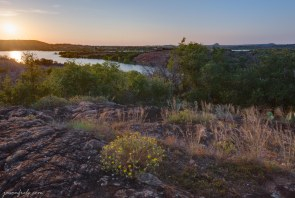 Inks Lake State Park HDR Sunset from granite
