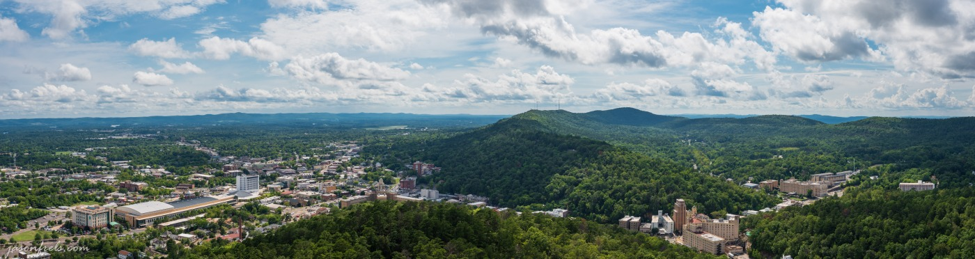 Panorama of Hot Springs Arkansas stitched from six photos