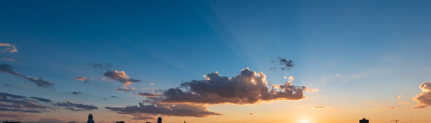 Sunset over downtown Austin Texas