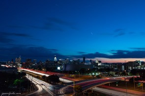 Long Exposure of Austin Texas after sunset