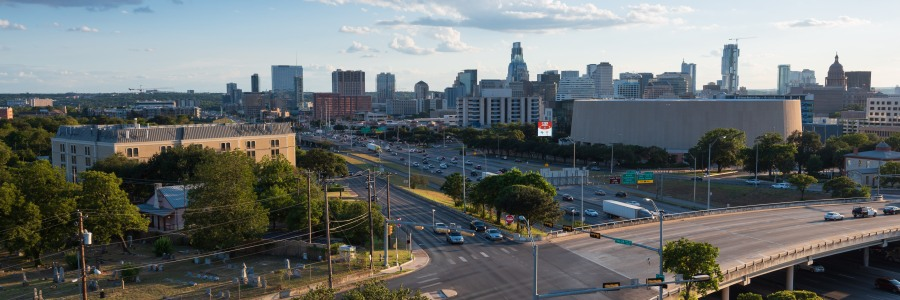 Interstate 35 running through downtown Austin Texas