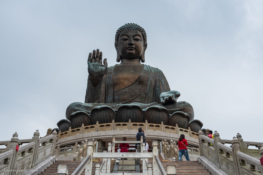 Big Budda or Tian Tan Buddha on Lantau Island in Hong Kong
