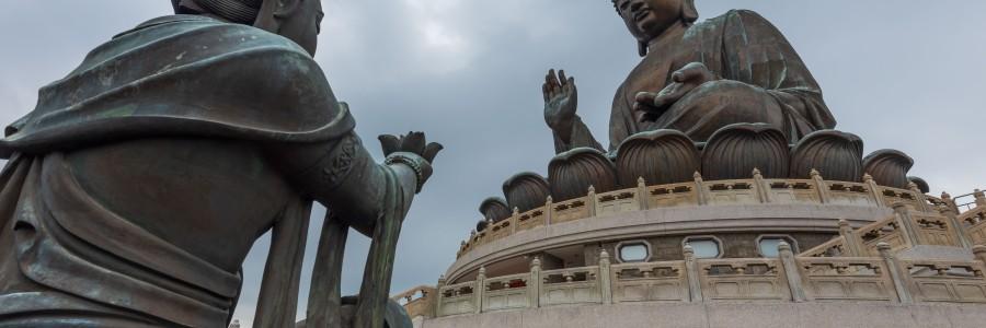 Big Budda or Tian Tan Buddha on Lantau Island in Hong Kong