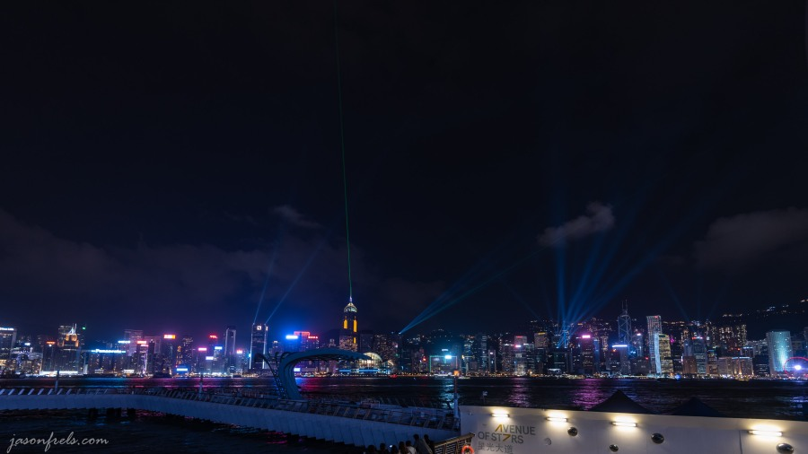 Laser light show at Hong Kong