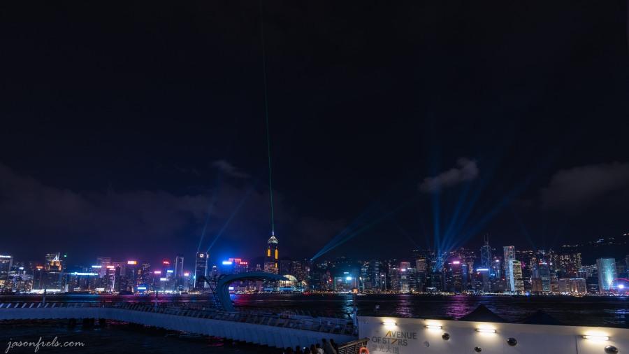 Laser light show at Hong Kong